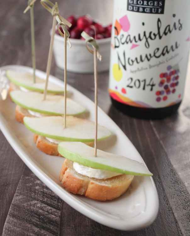 Apple Honey Brie Crostini