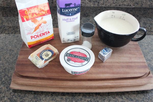 Creamy Cheesy Polenta Ingredients