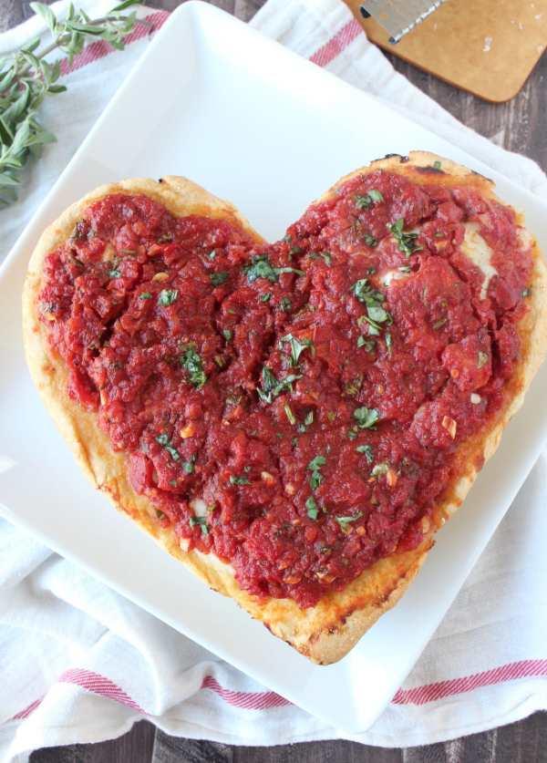 Heart Shaped Deep Dish Pizza Recipe