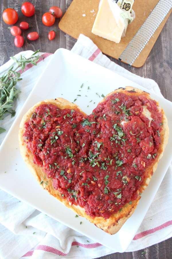 Heart Shaped Pizza Recipe