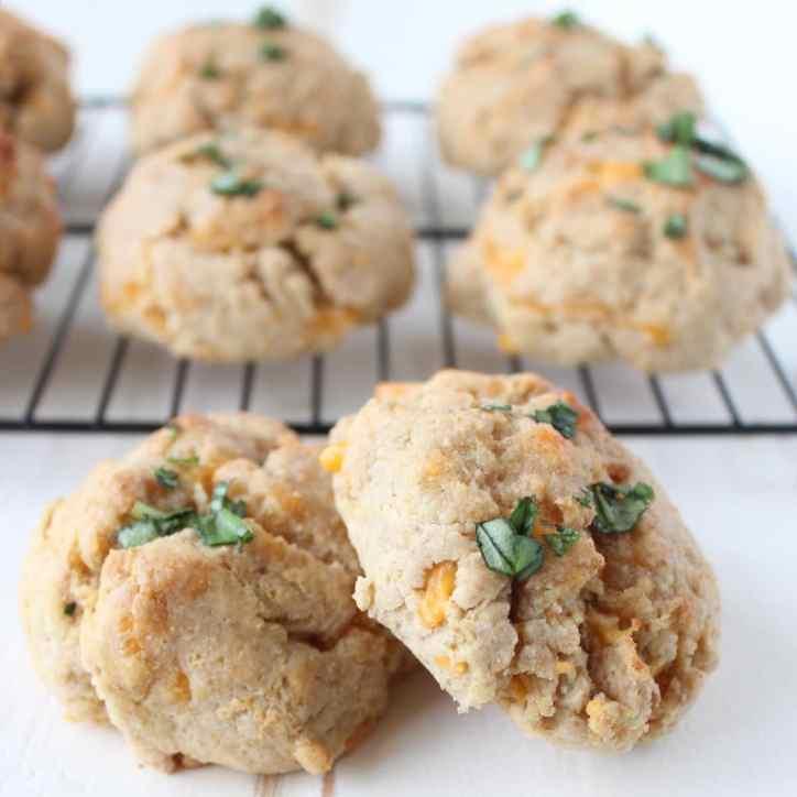 Gluten Free Cheddar Garlic Biscuits