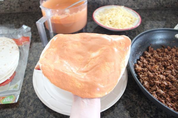 Creamy Sriracha Beef Enchilada Recipe