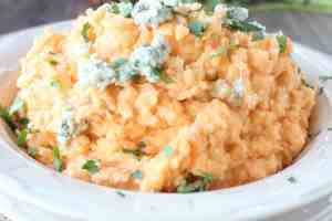 Buffalo Blue Cheese Mashed Potatoes