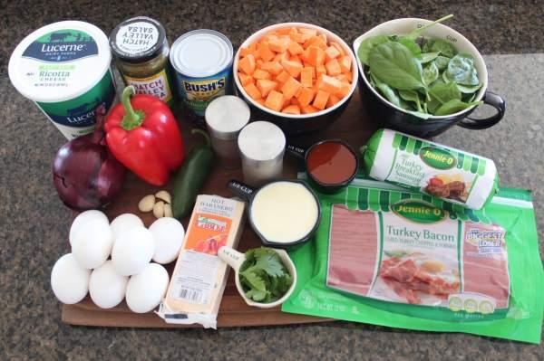 Healthy Mexican Breakfast Casserole Ingredients