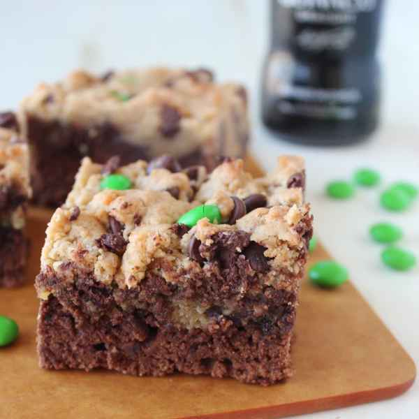St Patricks Day Guinness Irish Cream Brookies Recipe