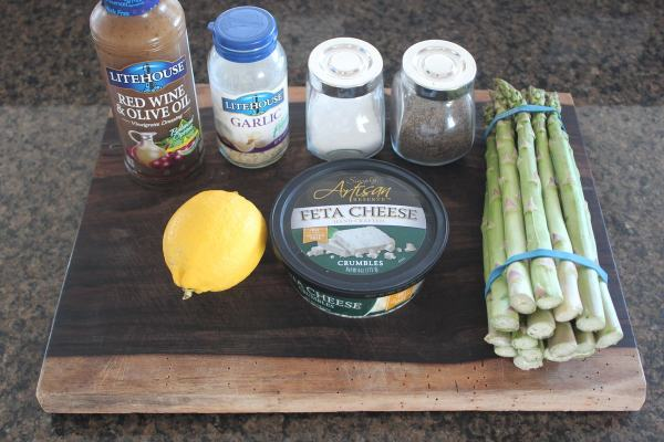 Garlic Lemon Grilled Asparagus Ingredients