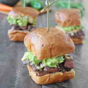 Roasted Jalapeño Honey Carne Asada Sliders
