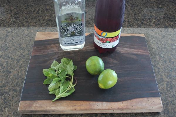 Pomegranate Mint Margarita Ingredients
