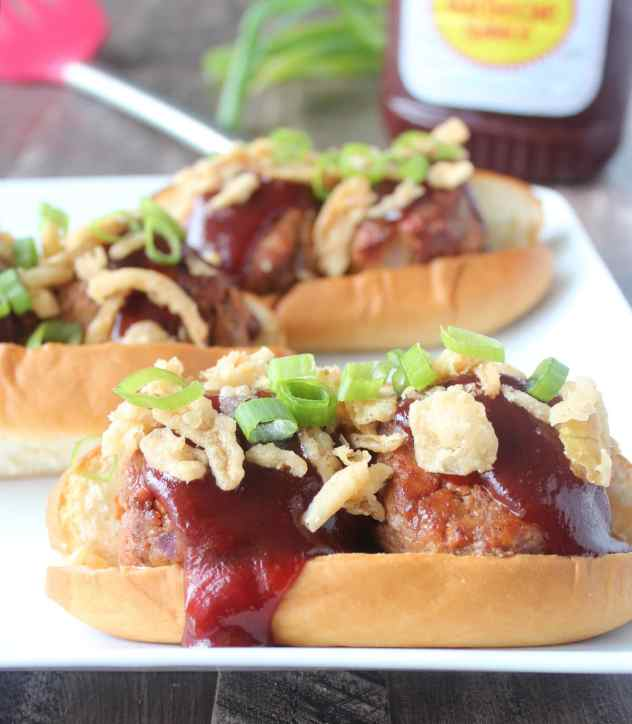 Grilled BBQ Meatball Subs