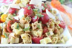 Bacon Tomato Pasta Salad with Avocado Dressing