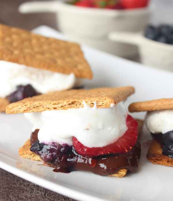 Grilled Berry S'Mores Recipe
