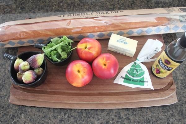 Nectarine Fig Burrata Bruschetta Ingredients