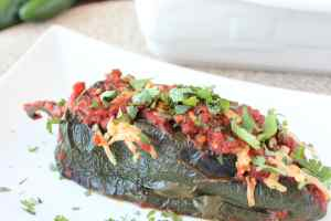 Stuffed Poblano Pepper Enchiladas