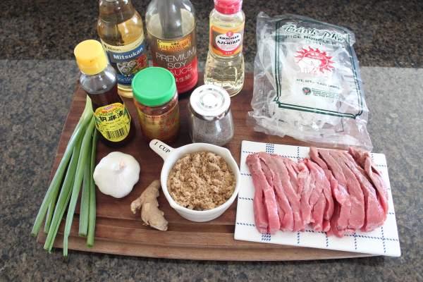 Korean BBQ Beef & Noodle Bowl Ingredients