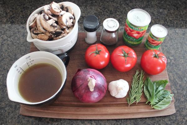 Slow Cooked Mushroom Ragu Ingredients