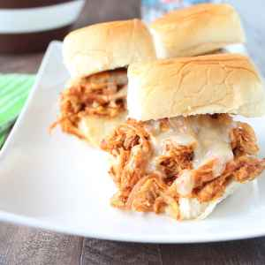Chipotle Maple Shredded Chicken Sliders