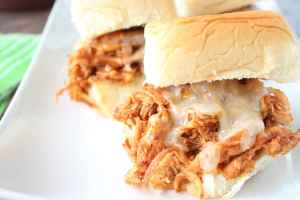 Slow Cooked Chipotle Maple Shredded Chicken Sliders