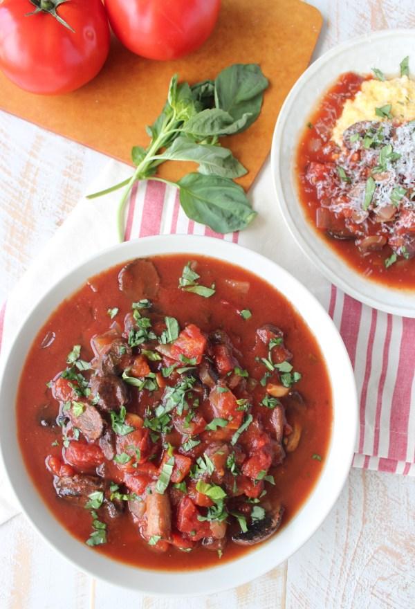 Slow Cooker Vegetarian Mushroom Ragu Recipe