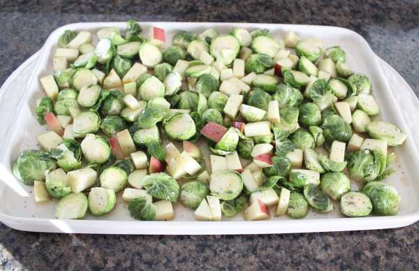 Maple Roasted Brussel Sprouts & Apples Recipe