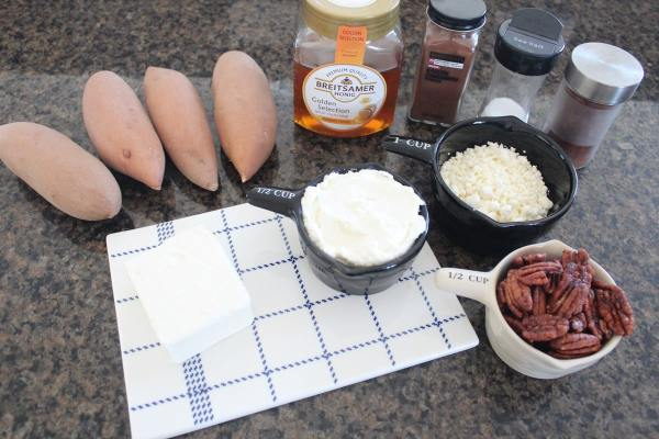Baked Sweet Potato and Three Cheese Dip Ingredients