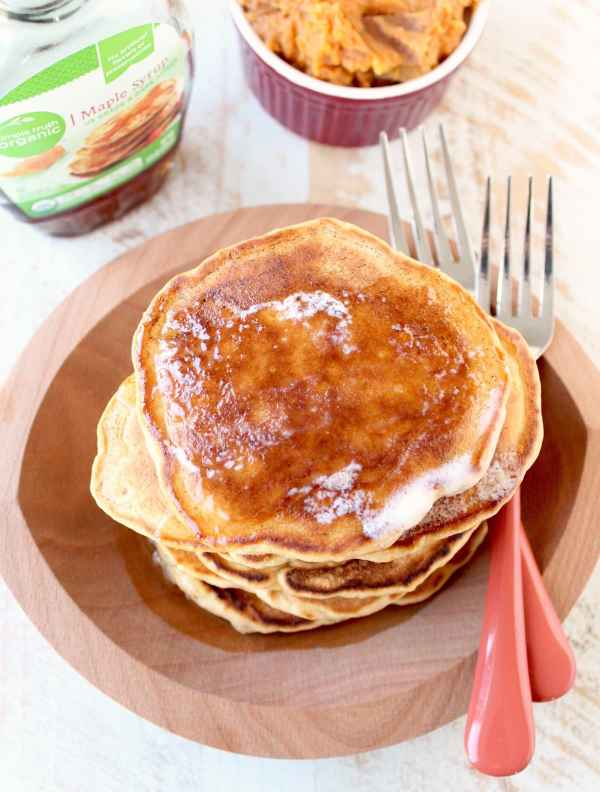 Mashed Sweet Potato Pancakes
