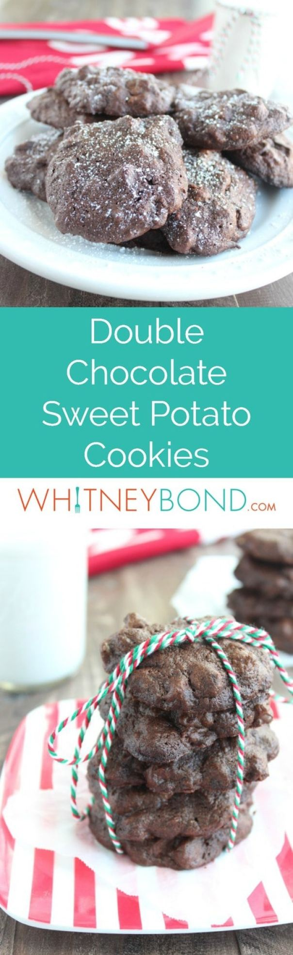 Mashed sweet potatoes add a delicious creaminess to this recipe for Double Chocolate Cookies, the perfect dessert for chocolate lovers!