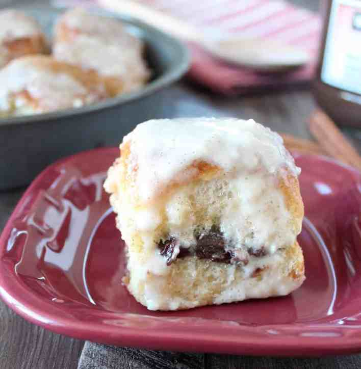 Nutella Cream Cheese Cinnamon Roll Recipe