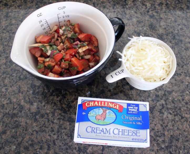 Bruschetta Cheese Dip Recipe Ingredients