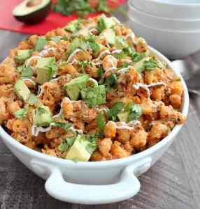 Slow Cooker Taco Macaroni and Cheese