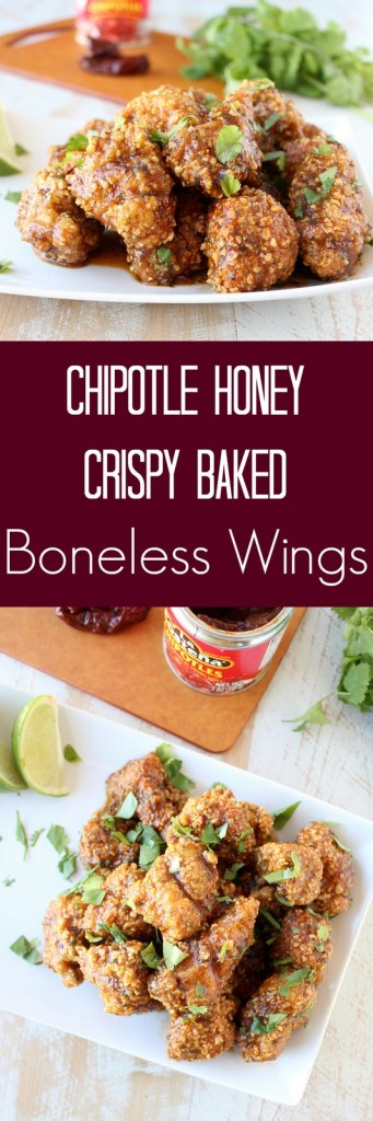 Chipotle Honey Crispy Baked Boneless Wings Recipe