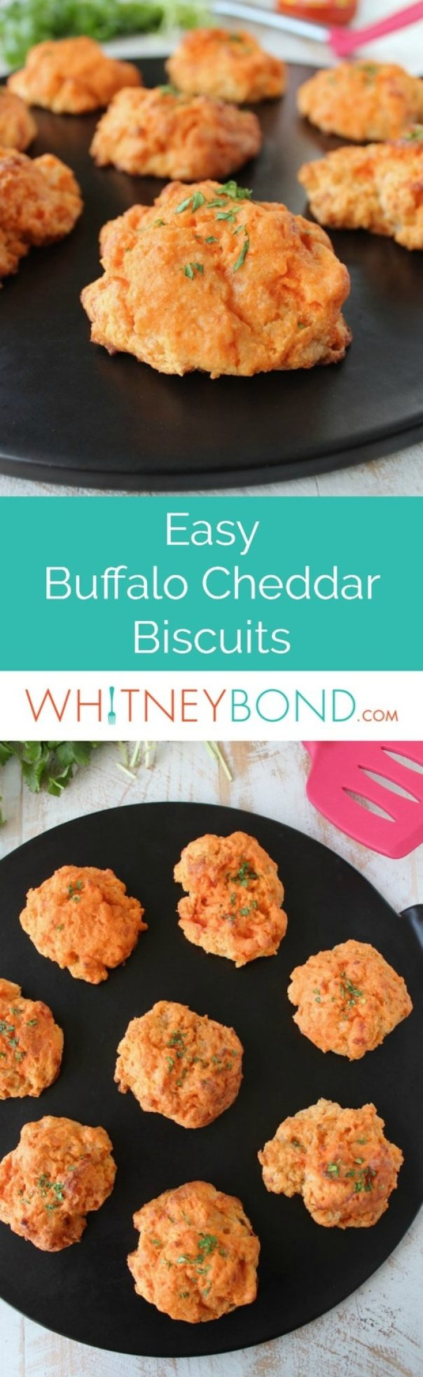 In this scrumptious, easy biscuit recipe, everyone's favorite garlic cheddar biscuits are given a spicy twist with the addition of buffalo sauce!