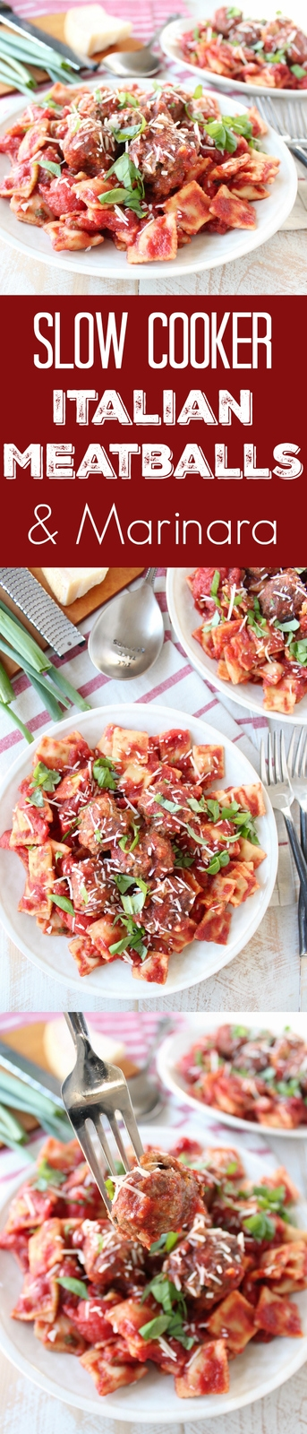 Slow Cooker Italian Meatballs & Marinara Recipe