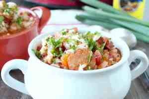 Slow Cooker Chicken & Sausage Jambalaya Recipe