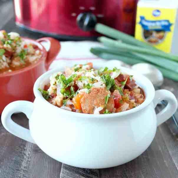 Slow Cooker Chicken & Sausage Jambalaya