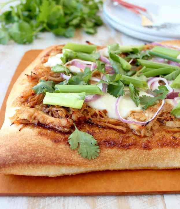 Korean BBQ Chicken Pizza Recipe