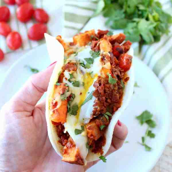 Mexican Sweet Potato Hash Breakfast Tacos