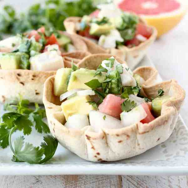 Ceviche Taco Cups Recipe