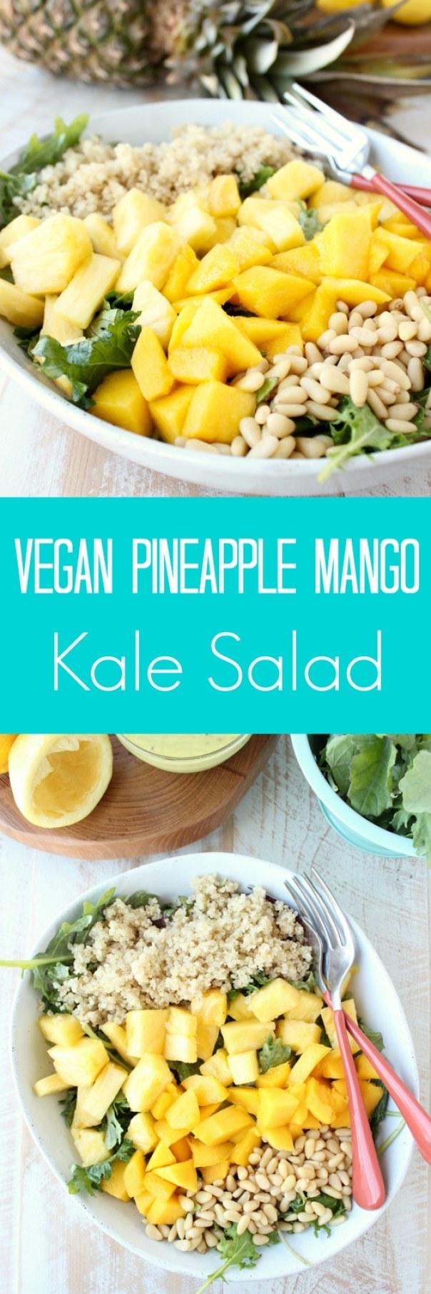Vegan Pineapple Mango Kale Salad Recipe