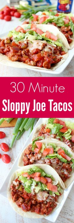 30 Minute Sloppy Joe Tacos