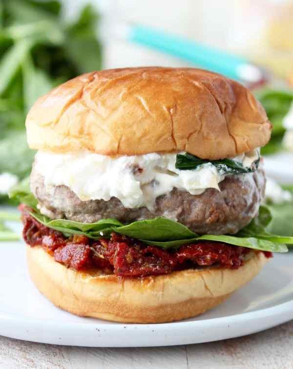 Spinach Artichoke Turkey Burger Recipe