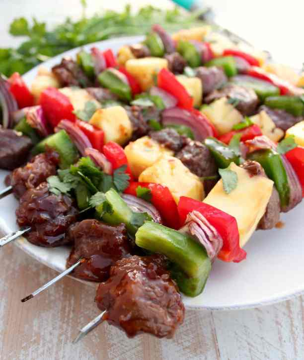 Teriyaki Pineapple Steak Shish Kabob Recipe