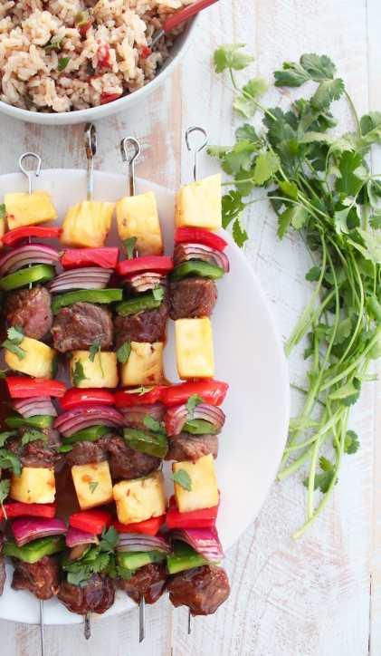 Teriyaki Pineapple Steak Shish Kabob Recipe