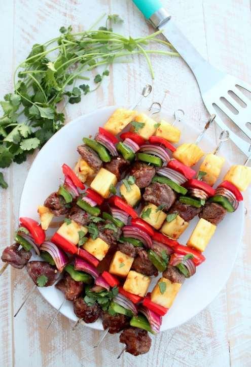 Grilled Teriyaki Steak Shish Kabob Recipe