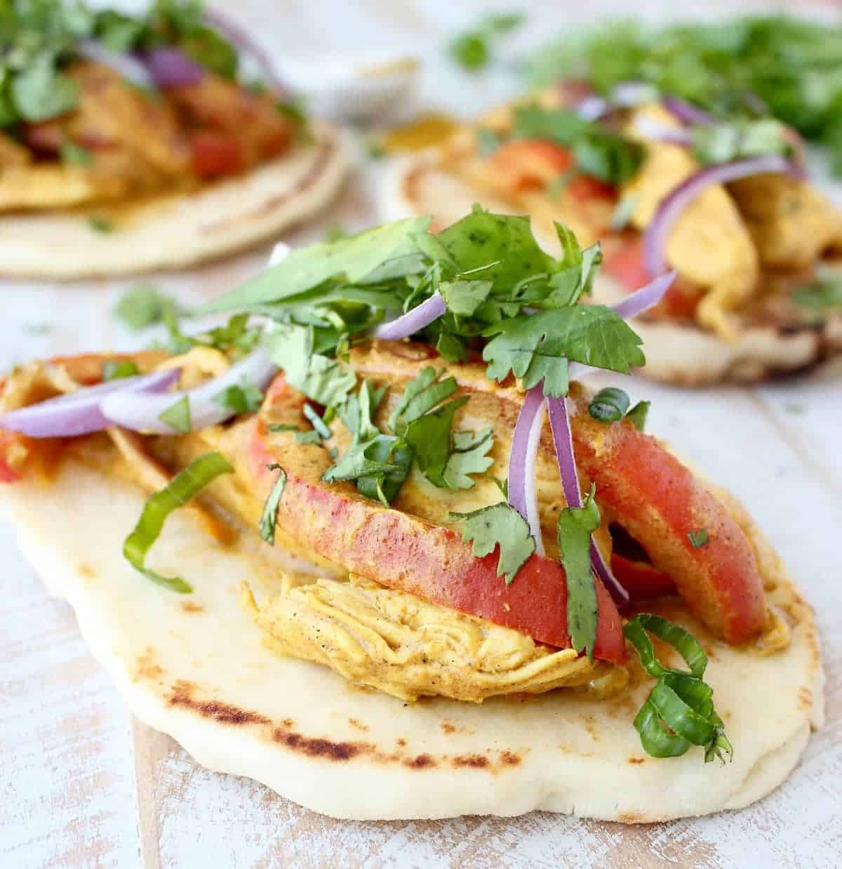 Indian Curry Chicken Tacos Recipe
