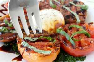 Grilled Tomato & Kale Salad Recipe