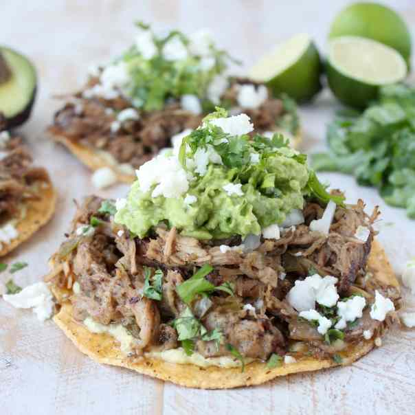Crock-­Pot® Slow Cooker Carnitas Tostadas
