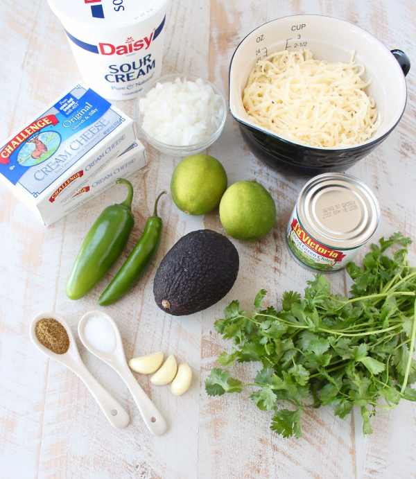 Slow Cooker Green Chili Queso Dip Ingredients
