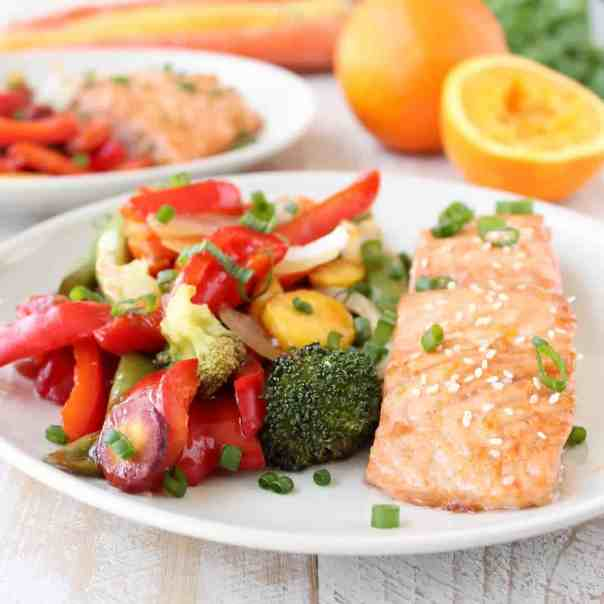 Chinese Orange Glazed Salmon Foil Dinner