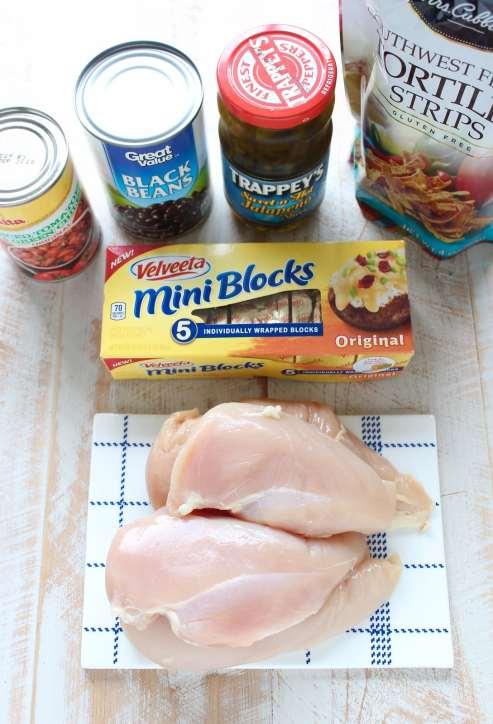 Baked Nacho Chicken Recipe Ingredients