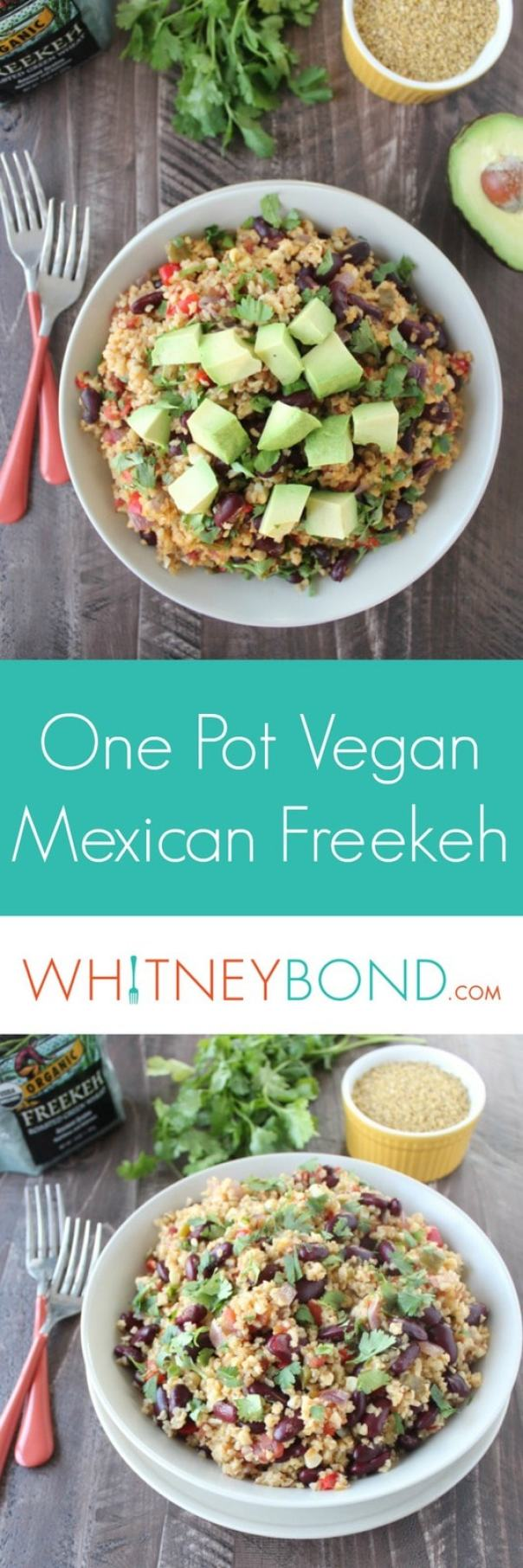 One Pot Vegan Mexican Freekeh Recipe
